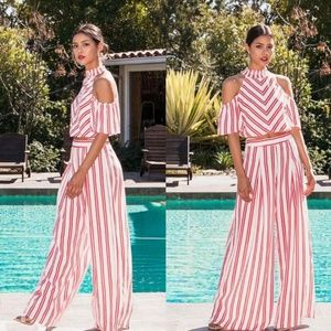 Pants - Jumpsuit 2 piece set striped HIGH QUALITY